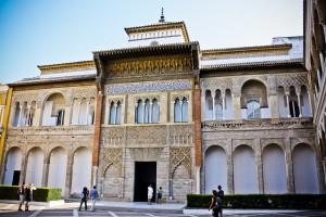 entrée de l'Alcazar à Sevilla (Andalousie)
