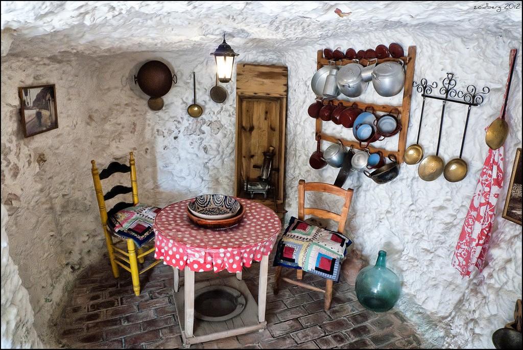 Reconstitution d'une habitation troglodytique- Museo Cuevas del Sacromonte