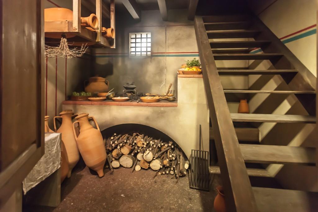 Reconstitution d'une cuisine romaine