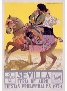 Seville - Andalousie - la feria en avril