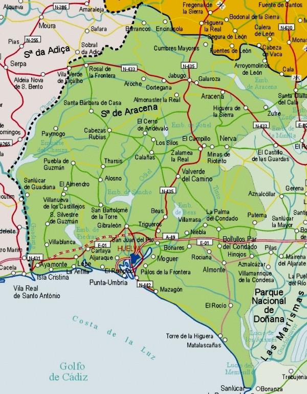 Carte Andalousie Islantilla.Carte D Andalousie Andalousie Culture Et Histoire