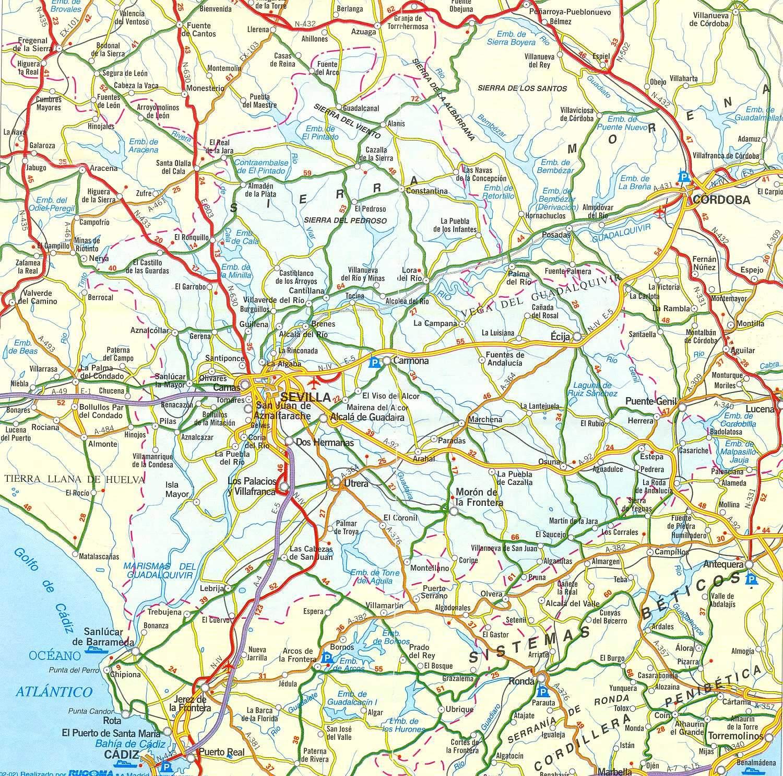 Carte Geographique Andalousie.Carte D Andalousie Andalousie Culture Et Histoire