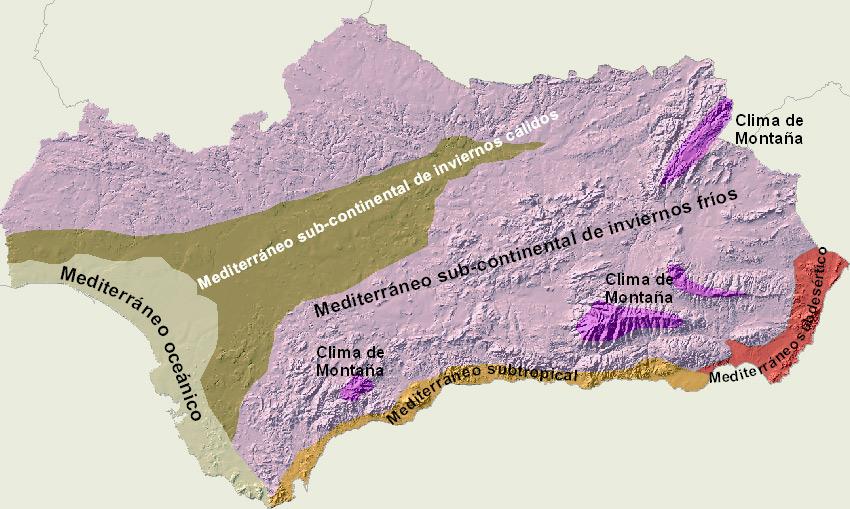 Carte Andalousie Relief.Carte D Andalousie Andalousie Culture Et Histoire