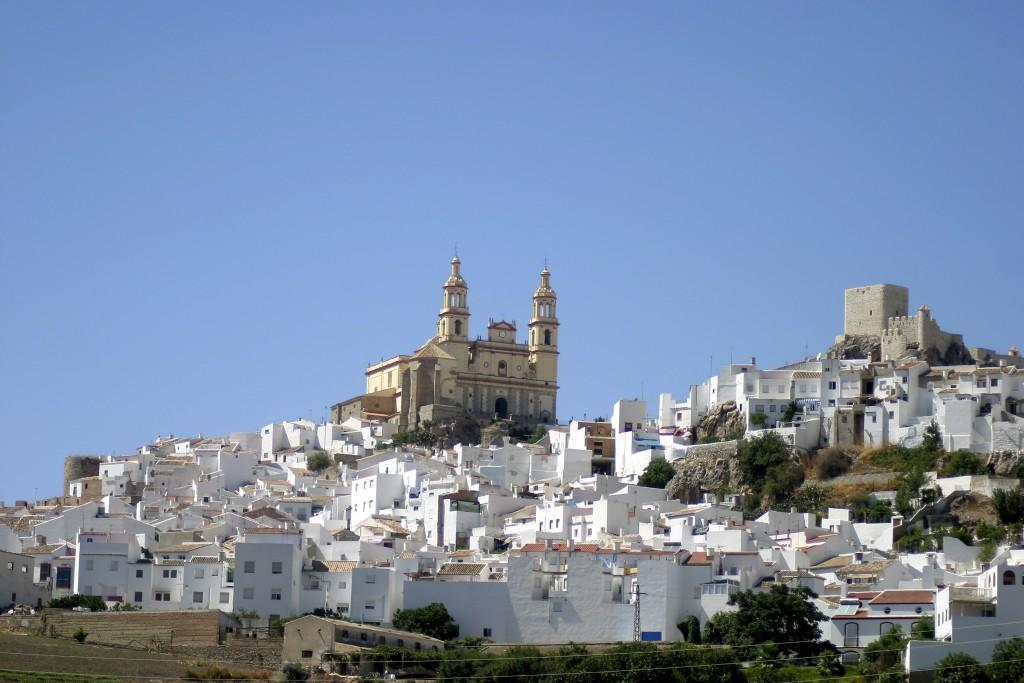 Vue sur le village blanc d'Olvera
