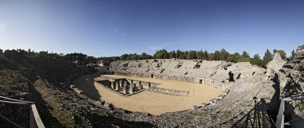 Amphithéâtre à Italica, en Andalousie