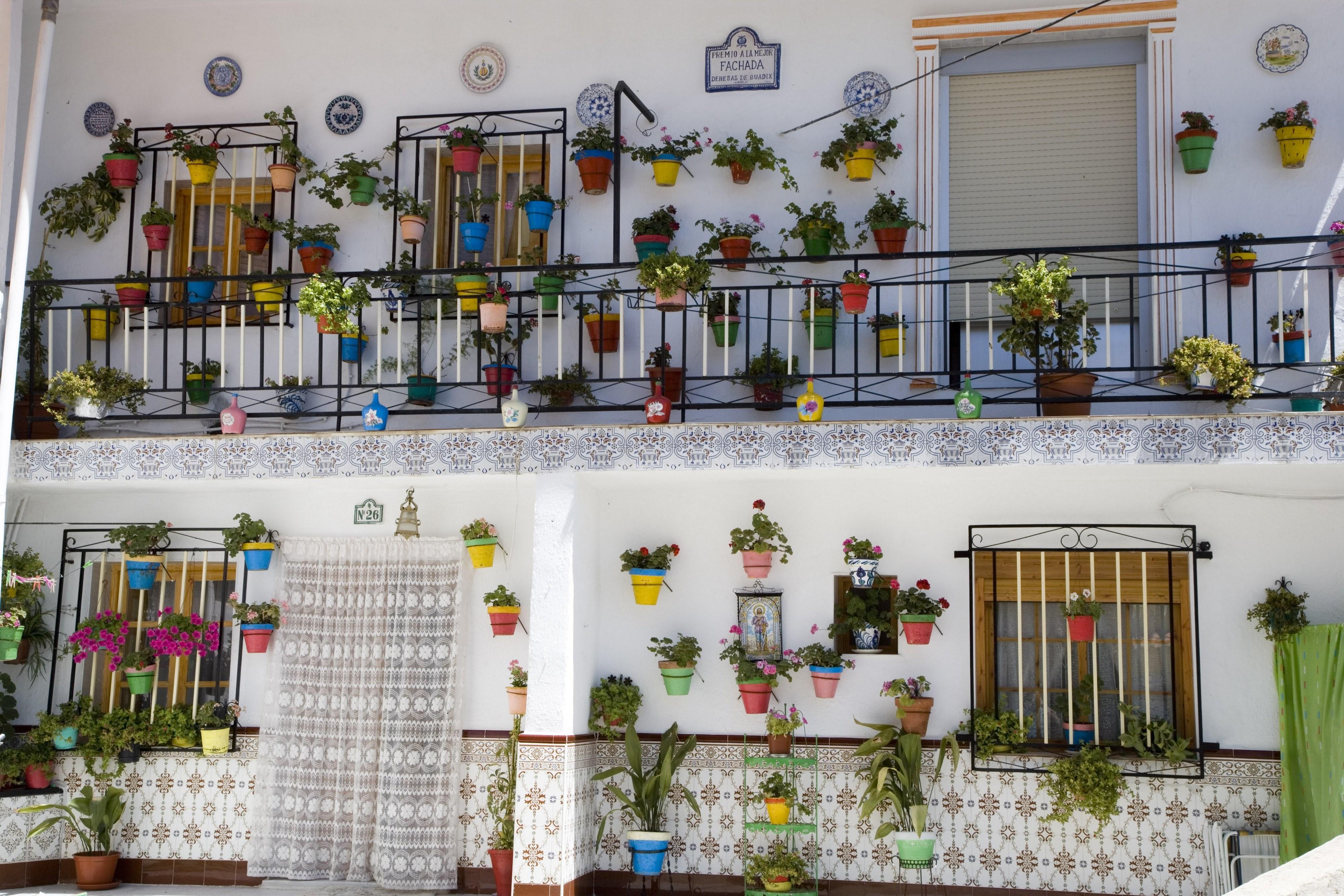 Un des murs de fleurs des ruelles de Cordoue